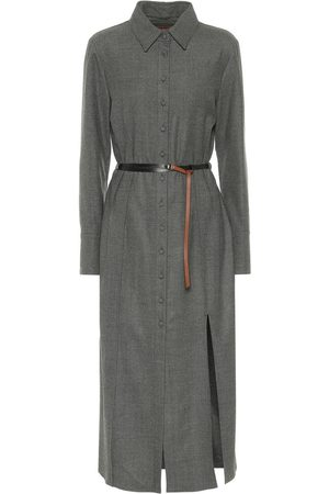 Altuzarra Edith belted wool shirt dress