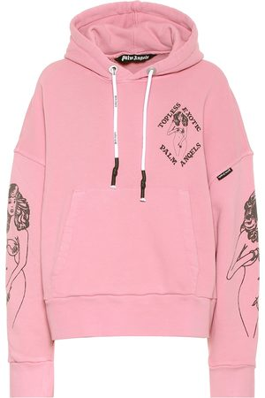 Palm Angels Printed cotton hoodie