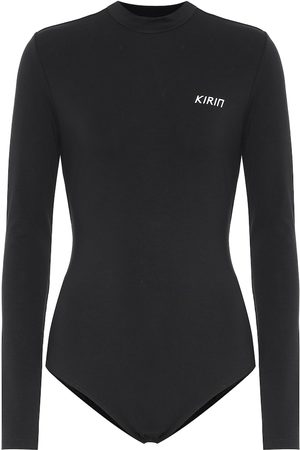Kirin Logo stretch-cotton bodysuit