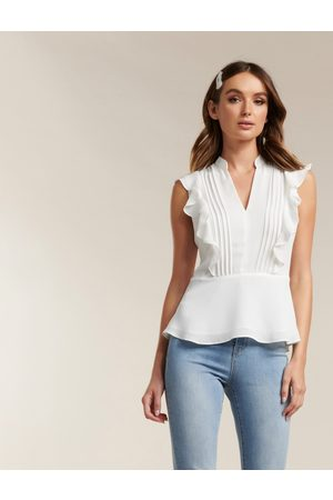 Forever New Stacey Pintuck Blouse