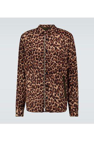SACAI Men Long sleeves - Leopard Shrivel wool shirt