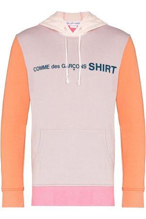 Comme des Garçons Colour-block cotton hoodie