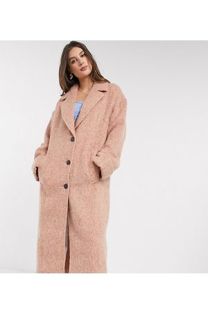 ASOS ASOS DESIGN Tall batwing textured slouchy oversized coat in pink