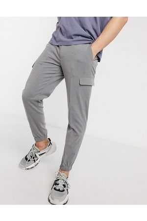 ASOS Smart skinny pants with cargo pockets in grey