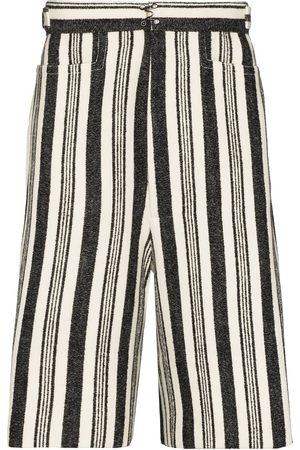 Pronounce Stripe-pattern Bermuda shorts