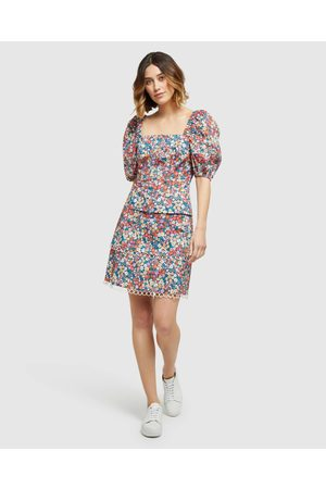 Oxford Zulu Ditsy Floral Top - Tops Zulu Ditsy Floral Top