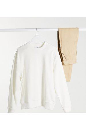 COLLUSION Unisex sweatshirt in ecru-White