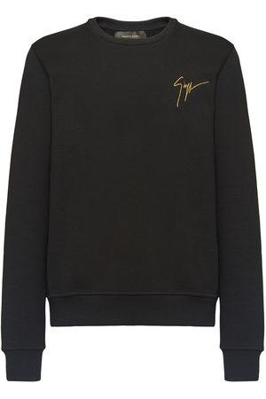 Giuseppe Zanotti Embroidered logo crew neck sweatshirt