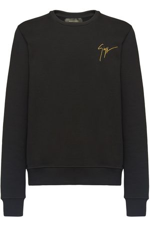 Giuseppe Zanotti Men Sweatshirts - Embroidered logo crew neck sweatshirt