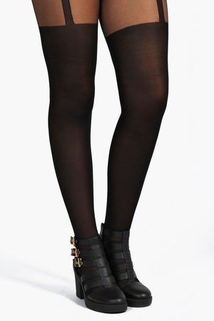 Boohoo Women Stockings - Plus Mock Suspender Tights