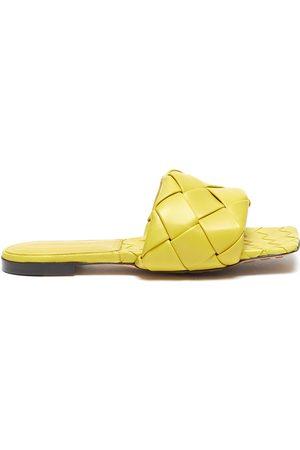 Bottega Veneta Lido' Intrecciato leather square toe slides