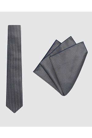 Buckle Cube Tie & Pocket Square Set - Ties Cube Tie & Pocket Square Set