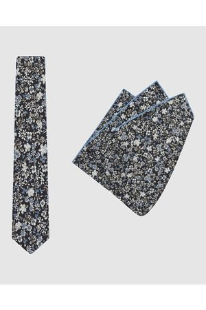 Buckle Vintage Tie & Pocket Square Set - Ties (Flora) Vintage Tie & Pocket Square Set
