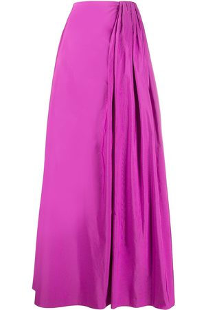 VALENTINO Gathered detailing full skirt