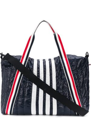 Thom Browne Men Travel Bags - 4-bar stripe detail holdall