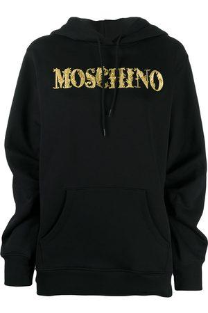 Moschino Women Hoodies - Logo embroidery hoodie