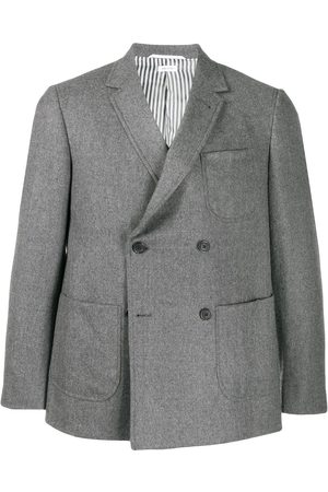 Thom Browne Double-breasted flannel sack jacket