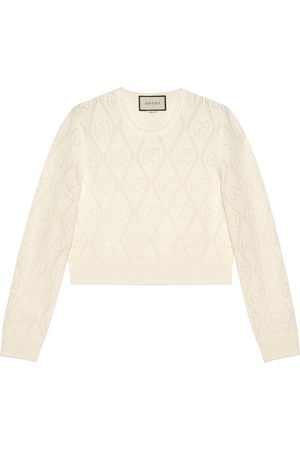 Gucci GG perforated wool crop sweater