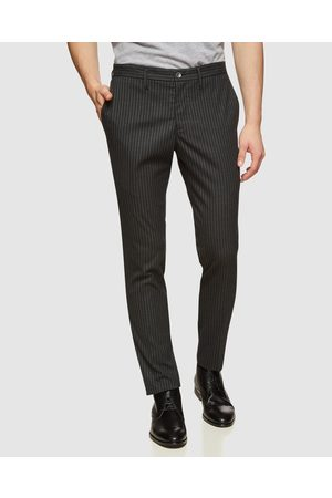 Oxford Stretch Striped Trousers - Pants Stretch Striped Trousers