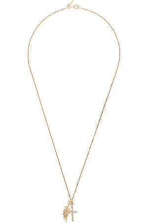 EMANUELE BICOCCHI Cross wing pendant necklace