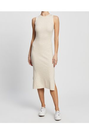 Atmos&Here Nala Wool Blend Knit Dress - Bodycon Dresses (Cream) Nala Wool Blend Knit Dress