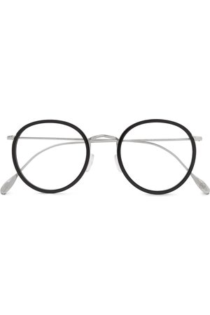 KINGSMAN Cutler and Gross Round-Frame Acetate and Silver-Tone Optical Glasses