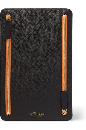 KINGSMAN Smythson Cross-Grain Leather Pouch