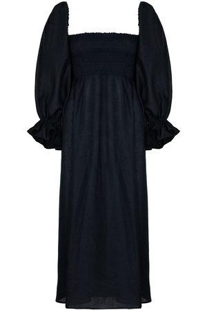 Sleeper Atlanta linen midi dress