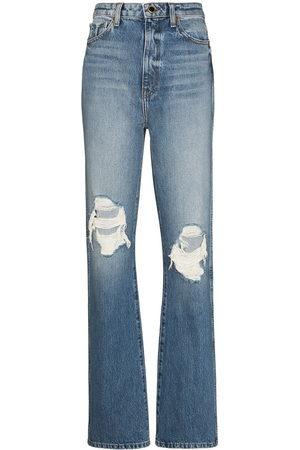 Khaite Danielle distressed-effect jeans