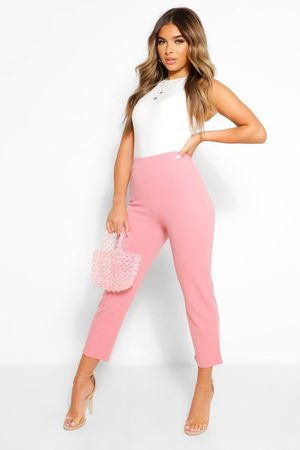 Boohoo Petite Tailored Pants- Blush