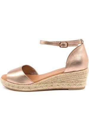 Django & Juliette Women Heeled Sandals - Skip Dj Rose Natur Sandals Womens Shoes Casual Heeled Sandals