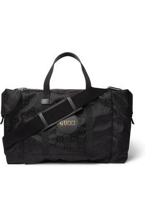 Gucci Men Travel Bags - Off the Grid Leather-Trimmed Monogrammed ECONYL Canvas Duffle Bag