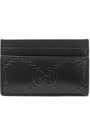 Gucci Men Wallets - GG Tennis Logo-Embossed Leather Cardholder