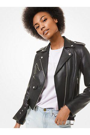 Michael Kors MK Leather Moto Jacket - - Michael Kors