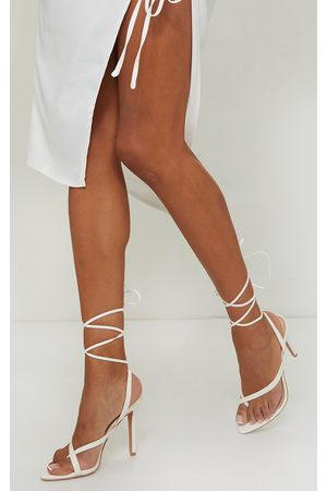 PRETTYLITTLETHING Cross Toe Loop Ankle Strappy High Heels
