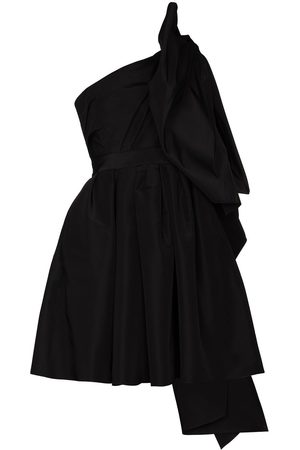 Carolina Herrera Women Party Dresses - One shoulder bow detail mini dress
