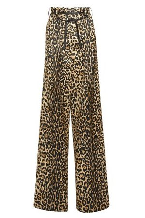 Tom Ford Silk Cotton Leopard Pants