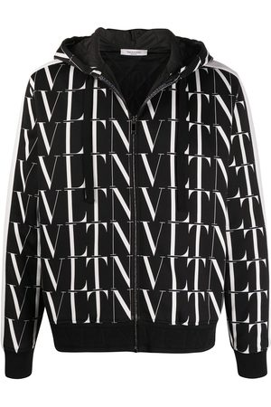 VALENTINO VLTN-print hooded jacket