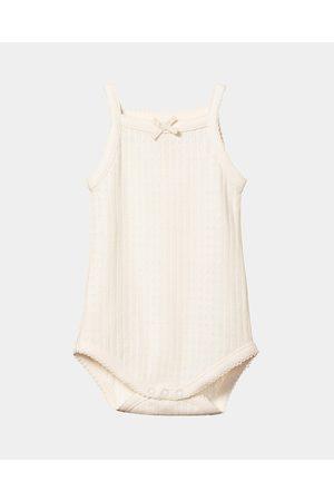 Nature Baby Pointelle Camisole Bodysuit Babies - Bodysuits (Natural) Pointelle Camisole Bodysuit - Babies