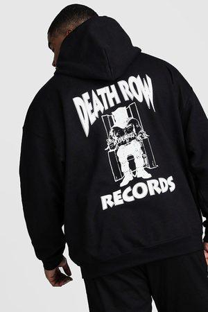 Boohoo Men Hoodies - Mens Plus Size Death Row Records License Hoodie