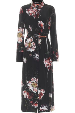 Altuzarra Edith floral silk shirt midi dress
