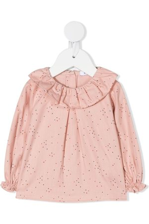 KNOT Ruffled neck blouse