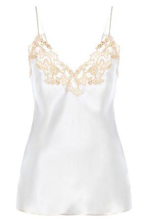La Perla Camisole In Silk With Embroidered Tulle