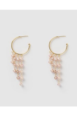 Miz Casa and Co Tempest Hoops in Iridescent Pearl - Jewellery ( Pearl) Tempest Hoops in Iridescent Pearl