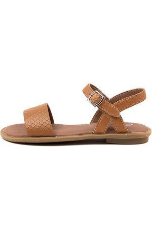 Clarks Harper Iii Jnr Ck Tan Sandals Girls Shoes Casual Sandals Flat Sandals