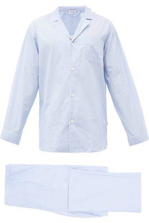Zimmerli Piped Cotton Pyjamas - Mens - Light