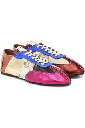 Marni Tapestry leather sneakers