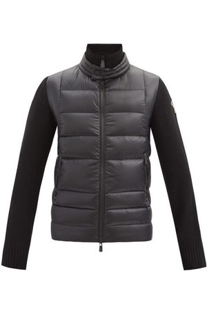 Moncler Logo-patch Jersey-sleeve Quilted Down Jacket - Mens