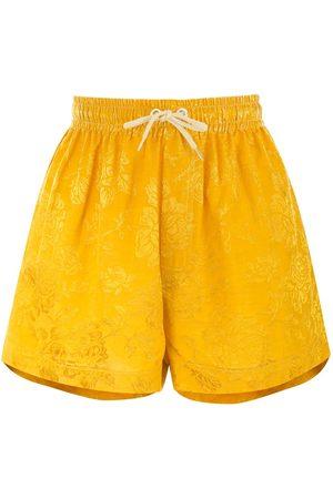 Karen Walker Maple drawstring-waist shorts