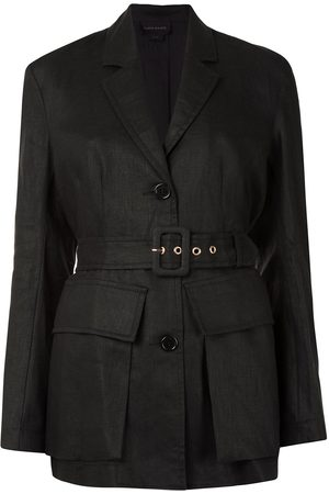 Karen Walker Chamomile single-breasted linen blazer